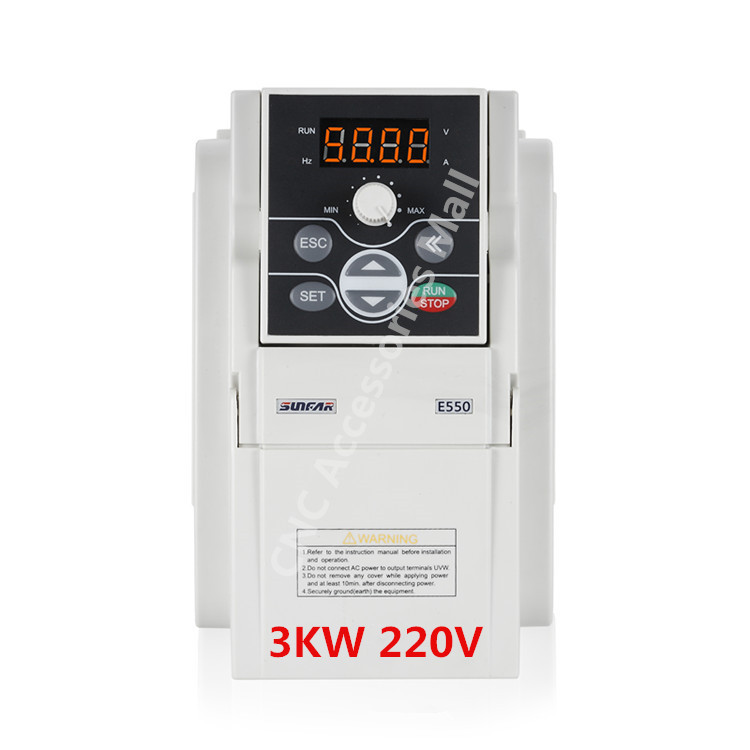 E550 Original AC220V Frequency Inverter E550-2S0030B VFD Inverter 3kw 1000HZ with RS485 interface, support MODBUS