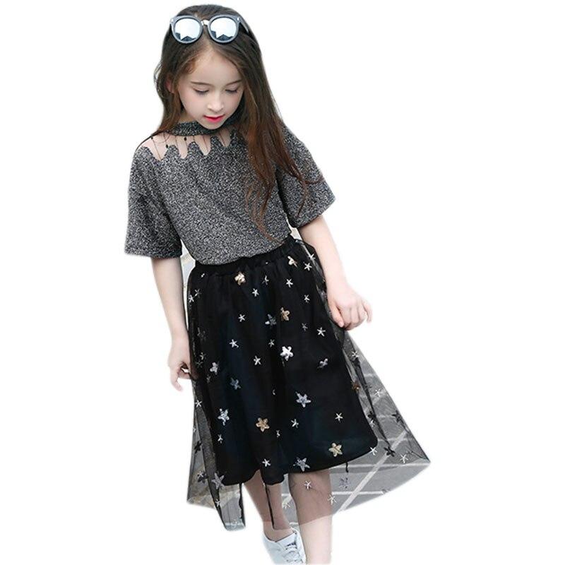 Zomer Kinderkleding.Meisjesrok Set 2st Voor 10 11 12 13 14 15 16 8 5 Jaar Lente Zomer