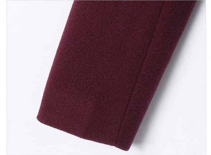Long gray Vestes Automne wine Veste Double Extra Black Breasted Tendances Red Laine Toujours De Mode hiver Femmes Conception I1qwWZxC