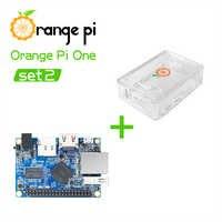 Orange Pi One + funda transparente de ABS, compatible con Android,Ubuntu, Mini tabla individual de Linux