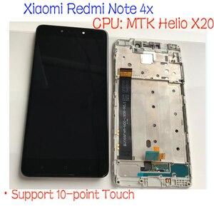 Image 3 - MTK Helio X20 / Snapdragon 625 Global 32GB/64GB pantalla LCD MONTAJE DE digitalizador con pantalla táctil + marco para Xiaomi Redmi Note 4 4X