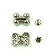30 Sets Punk Bone Spike Rivets Studs Spots Silver Tone Fashion Bag Shoes Clothes Crafts Making 19x14mm