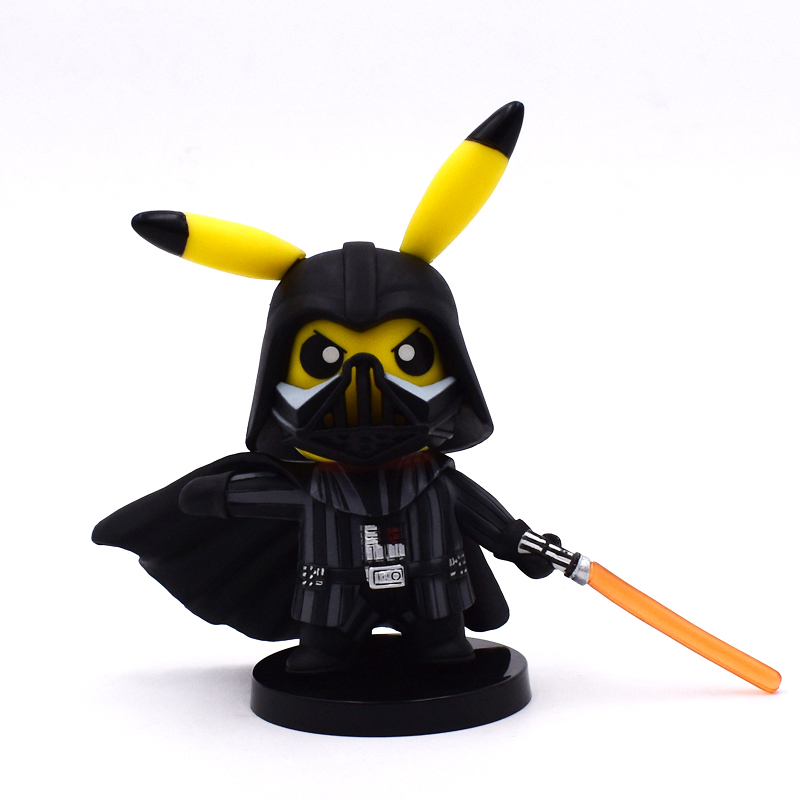 1 pcs 11 CM Pikachu Cosplay de Star Wars Darth Vader PVC Figura Collectible Fresco Toy Modelo Brinquedos Frete Grátis