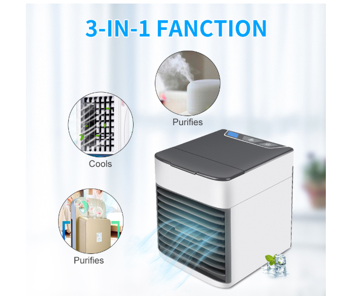 Cooling Fan Office Humidifier USB Mini Air Conditioner Portable Humidifier Air Purification Three - Speed Regulatio 375ML