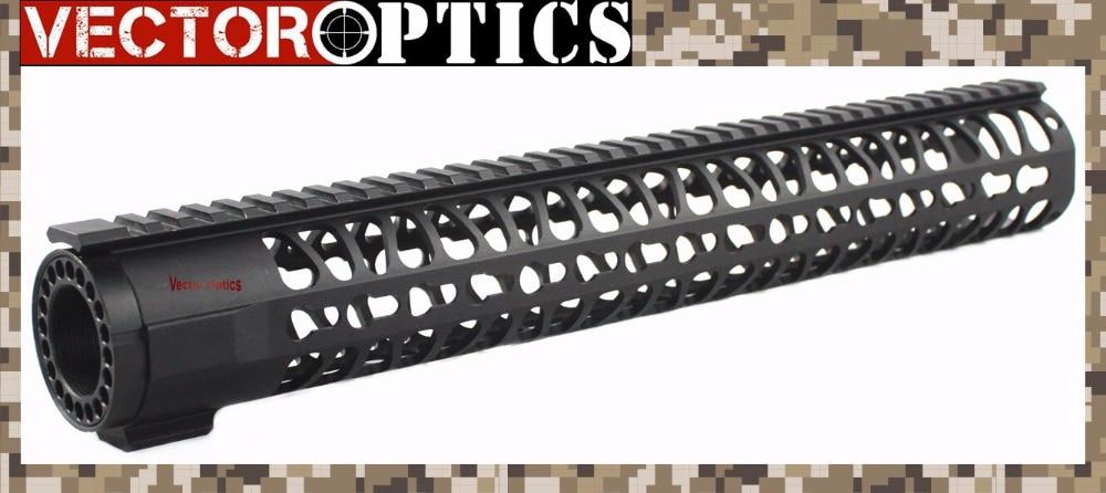 Vector Optics KeyMod Tactical 15 inch One Piece Free Floating Handguard Mount Bracket with Detachable Rails BLACK стоимость