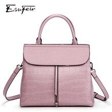 New 2018 ESUFEIR Brand Stone Pattern Women Bag Soft Genuine