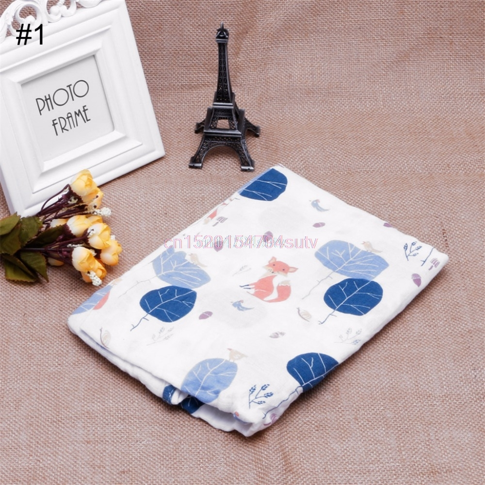100 Cotton Swaddle Towel Soft Muslin Baby Swaddling Blanket Newborn Infant H055