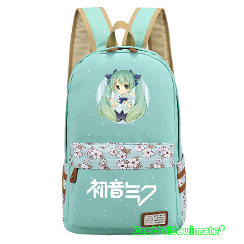 Anime Hatsune Miku Vocaloid Backpack Unisex Knapsack Students Schoolbag Gift