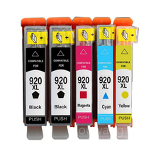 5pcs compatible ink cartridge for  920 XL officejet 6000 6500 6500A 7000 7500 7500A printer for hp920 with chip full ink 920 print head for hp officejet 6000 6500 7000a 7500a printhead 920 hp920 freeshipping