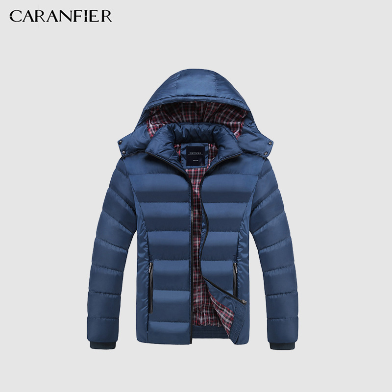 CARANFIER Winter Jacket Men -20 Degree Thicken Warm Parkas Hooded Coat Fleece ManJackets Outwear Jaqueta Masculina dropshipping