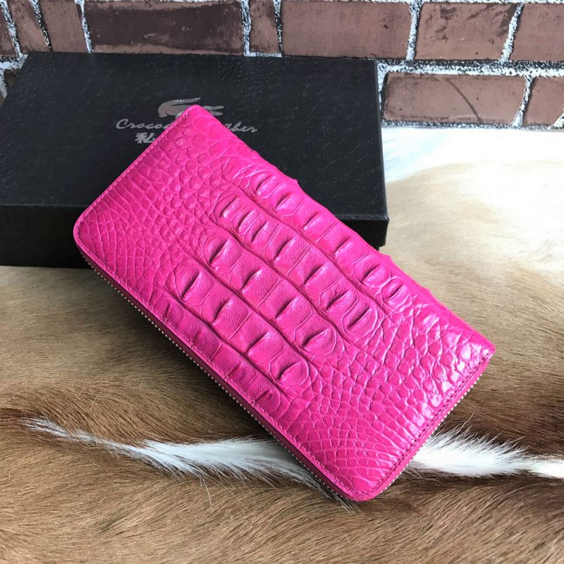 New arrival luxury real crocodile leather women ladies long wallet purse zipper wallet with card holders yuanyu new crocodile wallet alligatorreal leather women bag real crocodile leather women purse women clutches