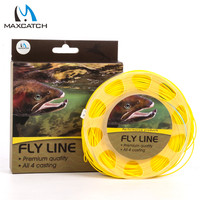 Fly Fishing Line 125FT Blue Yellow Color With 2 Welded Loop 7 8 9 Weight Forward