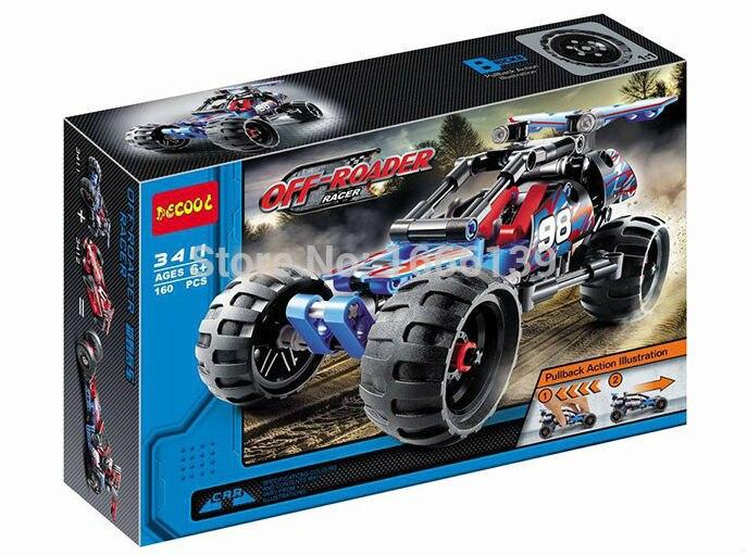 160 pcs Nouveau Guerrier En Cours Off-Roader Racer Pull Back - Concepteurs et jouets de construction - Photo 1