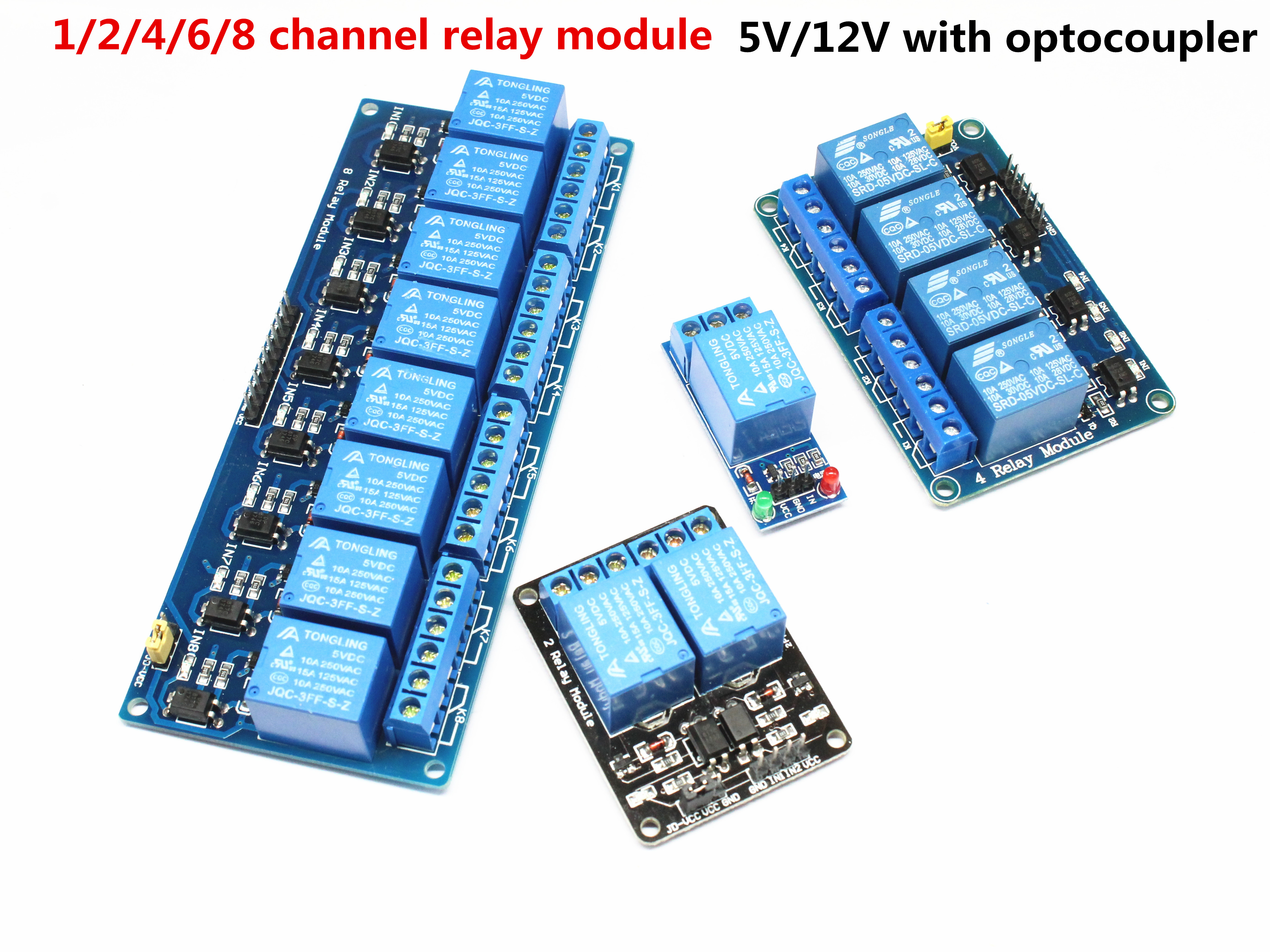 1pcs 5v 12v 1 2 4 6 8 Channel Relay Module With Optocoupler. Relay Output 1 2 4 6 8 Way Relay Module For Arduino In Stock(China)