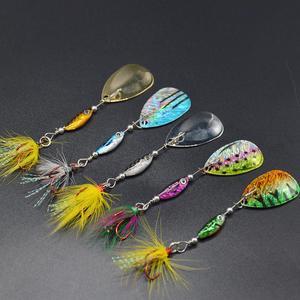 Image 2 - WLDSLURE 1 pz 6.5g spinner cucchiaio esca in metallo Fishin esca paillettes Crankbait cucchiaio esche per trota trota pesce persico luccio pesca rotante