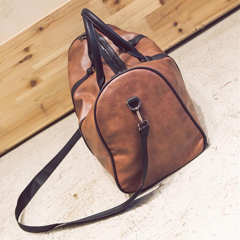 PU läder resväskan snygga kvinnor casual handväska män resväskor - Väskor för bagage och resor - Foto 3