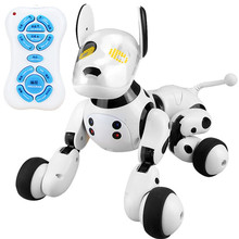 2.4G Wireless RC Robot Dog Toys Remote Control Electronic Dancing Singing Pet Animal Dogs Educational Smart Toy For Kids Gifts