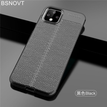 For Google Pixel 4 Case Soft Silicone Shockproof PU Leather Back Bumper Cover BSNOVT