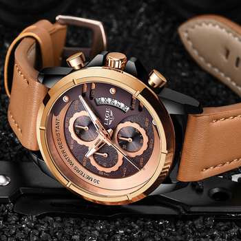 LIGE Watch Top Brand Man Watches with Chronograph Sports Waterproof Clock Man Watches Military Luxury Men's Watch Analog Quartz