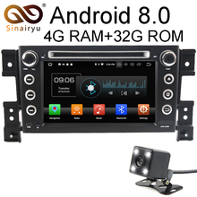 Sinairyu Android 8.0 8 Core 4G RAM Car DVD GPS For Suzuki Grand Vitara 2005 2006 2007 2008-2011 WIFI Autoradio Multimedia Stereo
