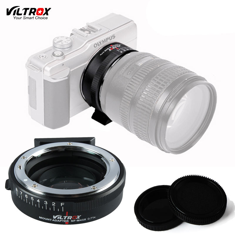 Viltrox NF-M43X Focal Reducer Speed Booster Lens Adapter Turbo For Nikon G&D Lens to M4/3 Olympus E-M10 Panasonic GX7 GH5 Camera