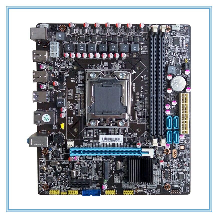 Nueva placa base de escritorio X78 LGA 1356 M.2 ddr3 ecc ram Puerto 32G USB3.0 M ATX mainboard envío libre