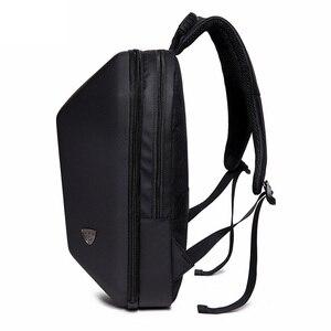 Image 4 - Mochila antirrobo de concha dura impermeable para hombre, bolso de viaje, portátil informal, creativo, Alien negro, escolar, para adolescentes