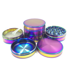 4 Layers Cool Colourful Striking Zinc Alloy Metal Tobacco Smoking Cigarette Crusher Spice Muller Pipe Accessories Herb Grinder