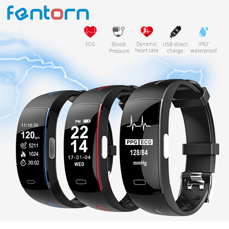 Fentorn P3 Smart Band Support ECG+PPG Blood Pressure Heart rate Monitoring IP67 waterpoof Pedometer Sports Fitness Bracelet