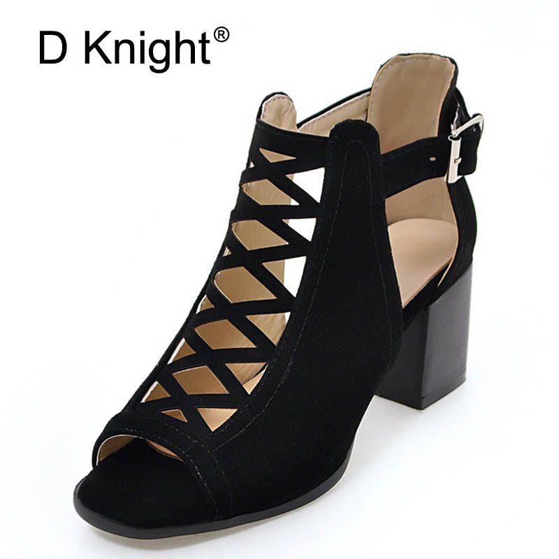 Summer Gladiator Sandals Women Cut-outs Casual Shoes Woman Sexy Elegant High Heels Buckle Peep Toe Pumps Women Shoes Size 33-43 phyanic 2017 gladiator sandals gold silver shoes woman summer platform wedges glitters creepers casual women shoes phy3323