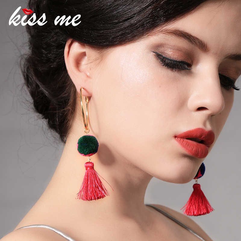 キス私卸売 Bohe タッセルイヤリングポンポンブラブライヤリング女性 2018 ファッションジュエリーコスチュームジュエリー
