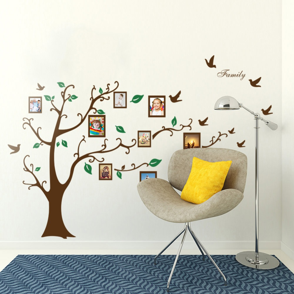 family tree vinyl wall decal promotion shop for promotional family love family photo tree wall sticker vinyl living room decoration stickers removable wall decal wallpaper for bedroom home decor