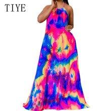TIYE New Arrival Vintage Sexy Bohemian Beach Dress Sundress Women Summer Sleeveless Hollow Out Halter Maxi Loose Vadim