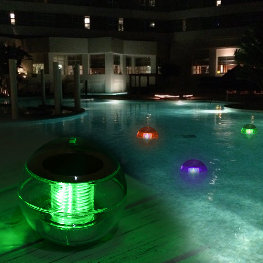 IP65 Solar Powered Color Changing Water Floating Ball Lamp LED Outdoor Pool  Float Night Light Yard