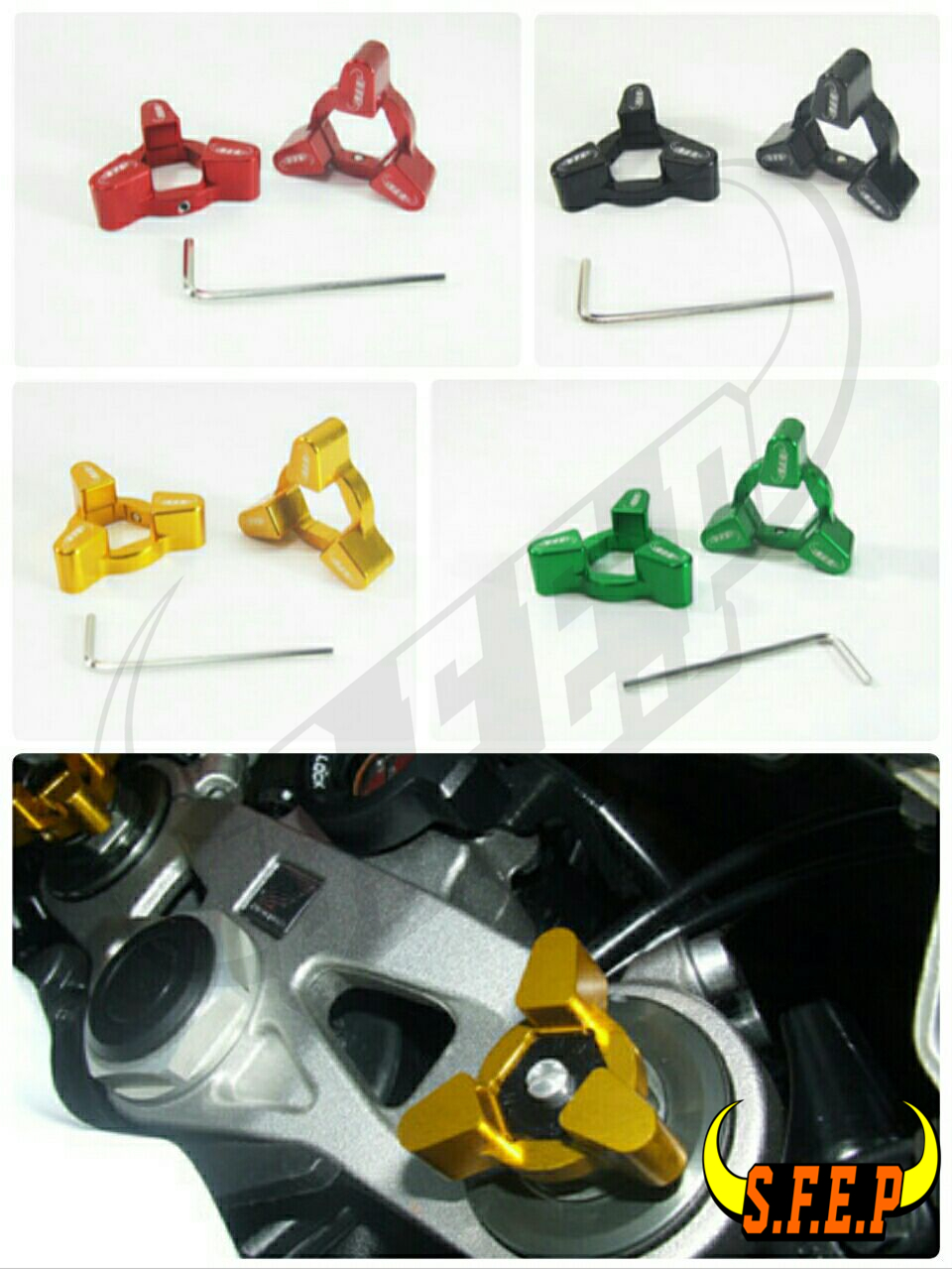 Motorcycle CNC Fork Preload Adjusters For Kawasaki ZX1400/ZX14R/ ZZR1400 06-10