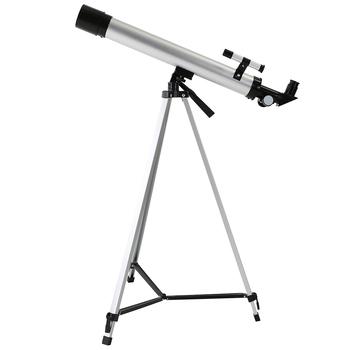 100X 600x50mm teleskop z powiększeniem refrakcyjny astronomiczny teleskop do obserwacji przestrzeni kosmicznej monokularowy luneta zewnętrzna ze statywem tanie i dobre opinie 100X 600x50mm Zoom Telescope