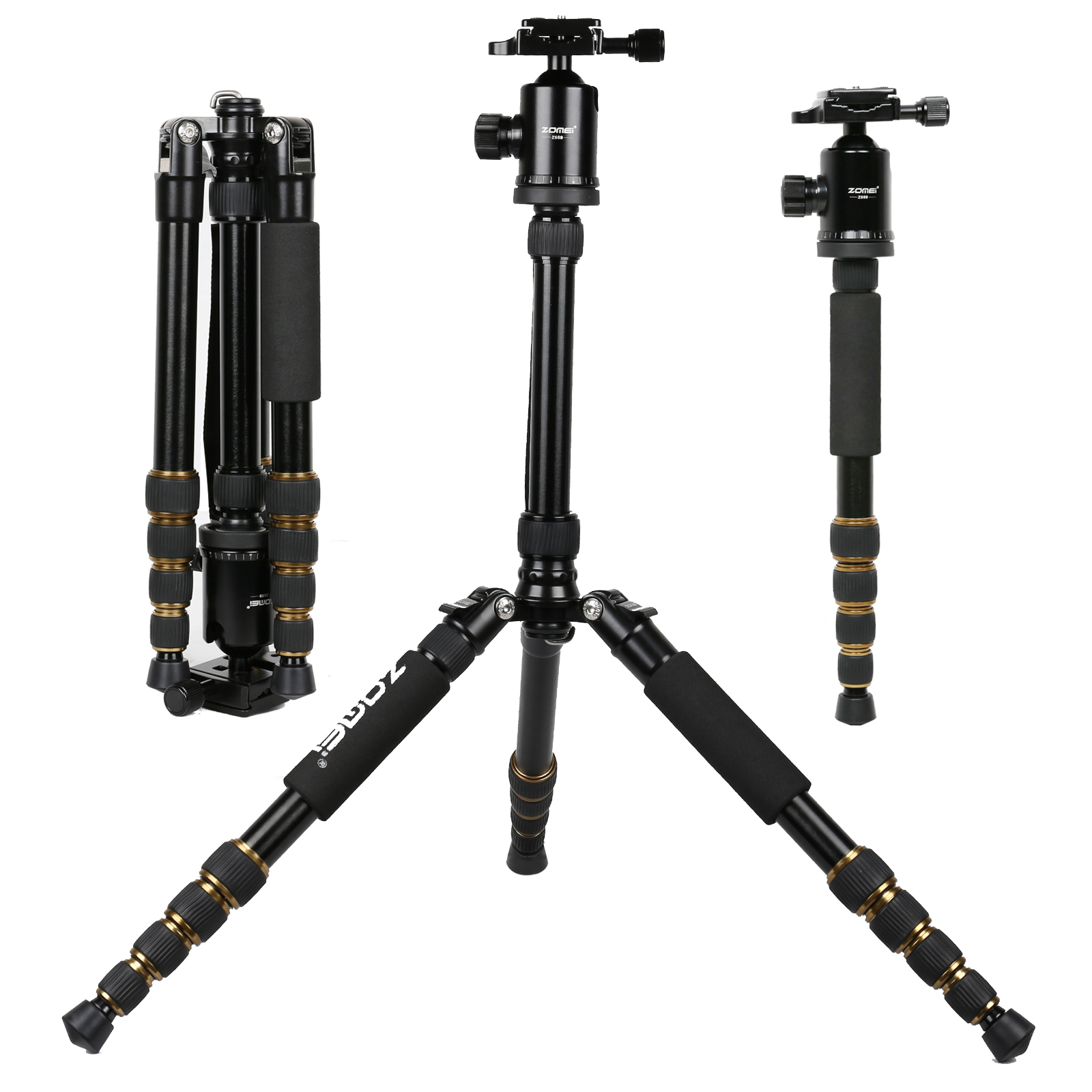 Zomei Z-699 Tripod Micro SLR Camera Traveling Convenient Triangle Frame SLR Photography Tripod Aluminum Alloy Carbon Fibre black benro a38td foot aluminum alloy slr camera videotape alone racks one horned portable triangle frame free shipping