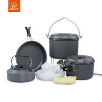Bulin Outdoor 7 Person Camping Cooking Pot Pan Kettle Set Hiking Mess Kit Cookware BL200 C9