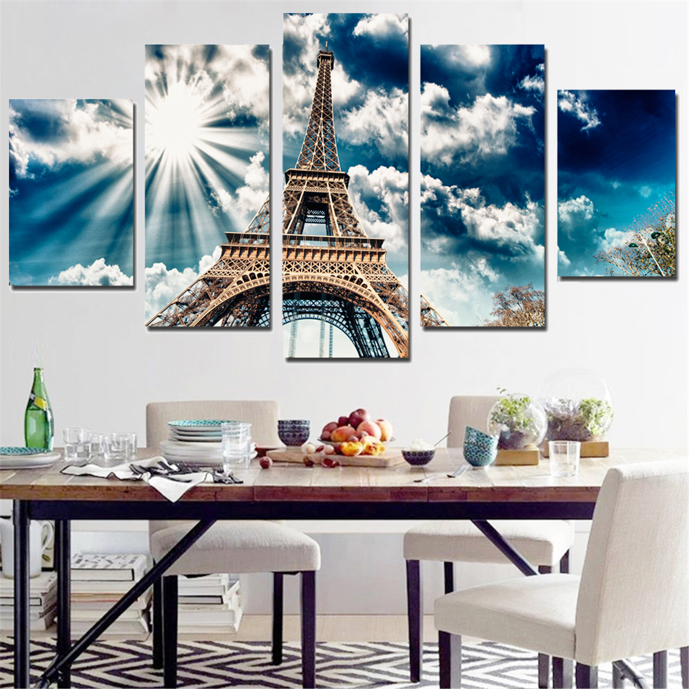 5 pcs/set,5D DIY Diamond Painting,Cross Stitch Eiffel Tower,Needlework Diamond Embroidery Home Decorative gift,Diamond Mosaic