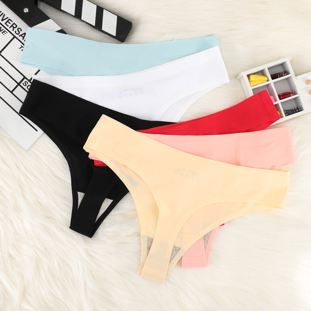 Women's Panties Ultra-thin Female Underwear Intimates Breathable Low-Rise Briefs Invisible Female Briefs Seamless Ice Silk Panti