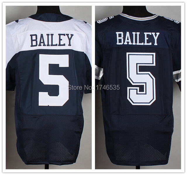 5c622b4fe53 Cheap Wholesale #5 Dan Bailey Jersey Authentic Elite Men's American  Football Jersey High Quality Stitched Rugby Shirt Navy Blue