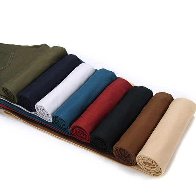 Business Casual Cotton Slim Straight Trousers for Men