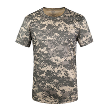 Coolmax Tactical Camouflage T Shirt Men Breathable Quick Dry US Army Combat T Shirt Hunt T