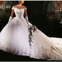 kejiadian Wedding Dress Cathedral Train Bridal Gown