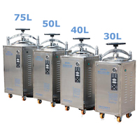 50L Automatic Steam Sterilizer 220V Stainless Steel Sterilization Pot Pressure Steam Sterilizer Autoclave Pot Surgical Medical