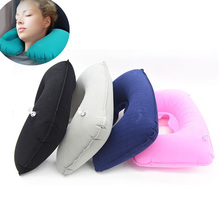 цена на Hot Inflatable U Shaped Pillow Travel Neck Head Rest Air Cushion for Travel Office Nap Head Rest Air Cushion Neck Pillow