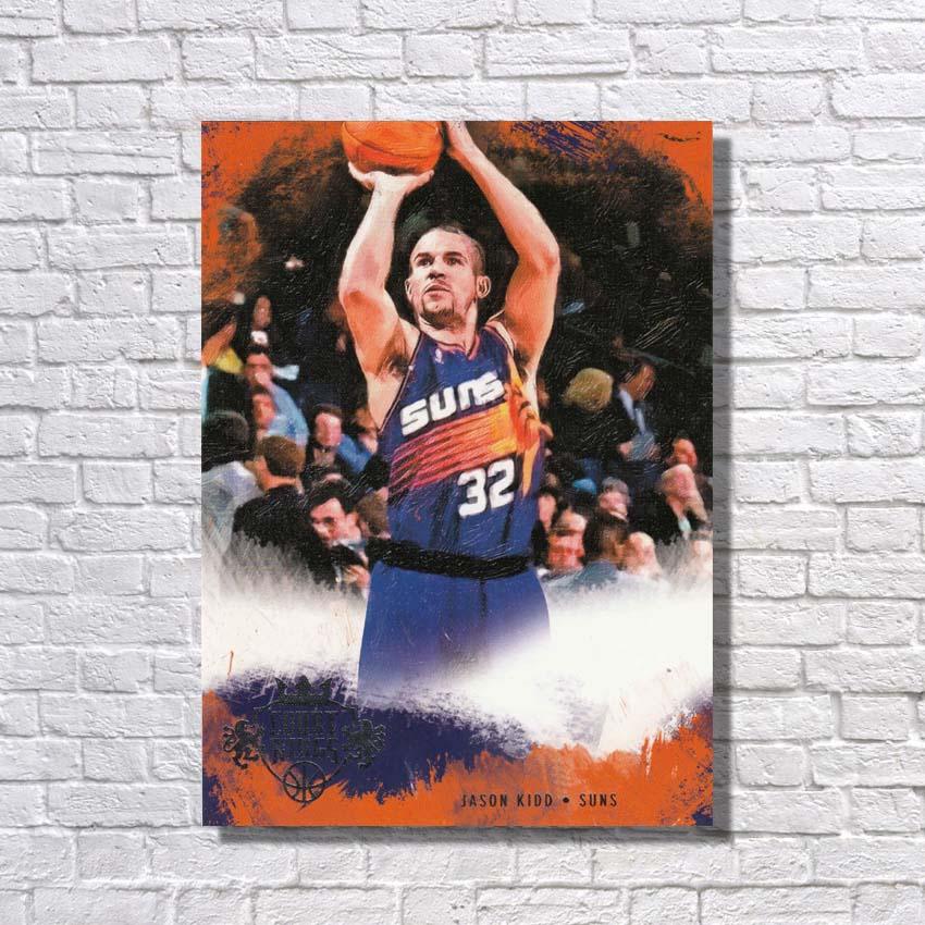 Peint à la main célèbre joueur de basket-ball Pop Art peinture grande toile Art mur photos pour la décoration de la maison offre spéciale pas encadré