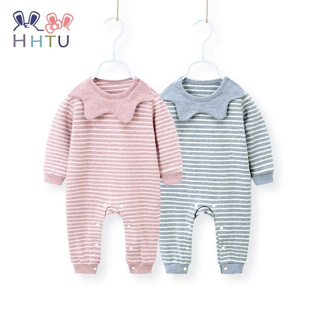 7384fab81 HHTU bebé mamelucos rayados niñas primavera otoño niño ropa de algodón bebé  mamelucos recién nacido manga