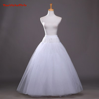In Stock Bridal A Line Wedding Accessories Without Bone Petticoat Underskirt 6 Layers Floor Length Puffy