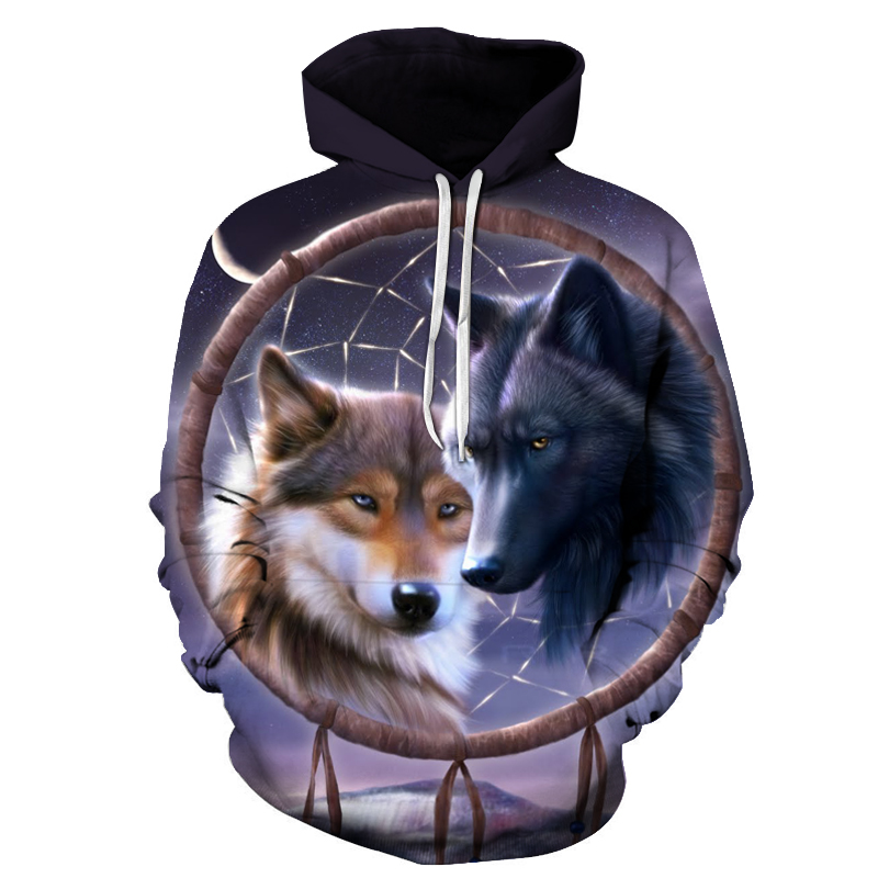 galaxy wolf printed 3d hoodies men brand hoodie hot sale unisex sweathsirts autumn 6xl pullover fashion tracksuits boy jackets Galaxy Wolf Printed 3D Hoodies HTB1OVi3d